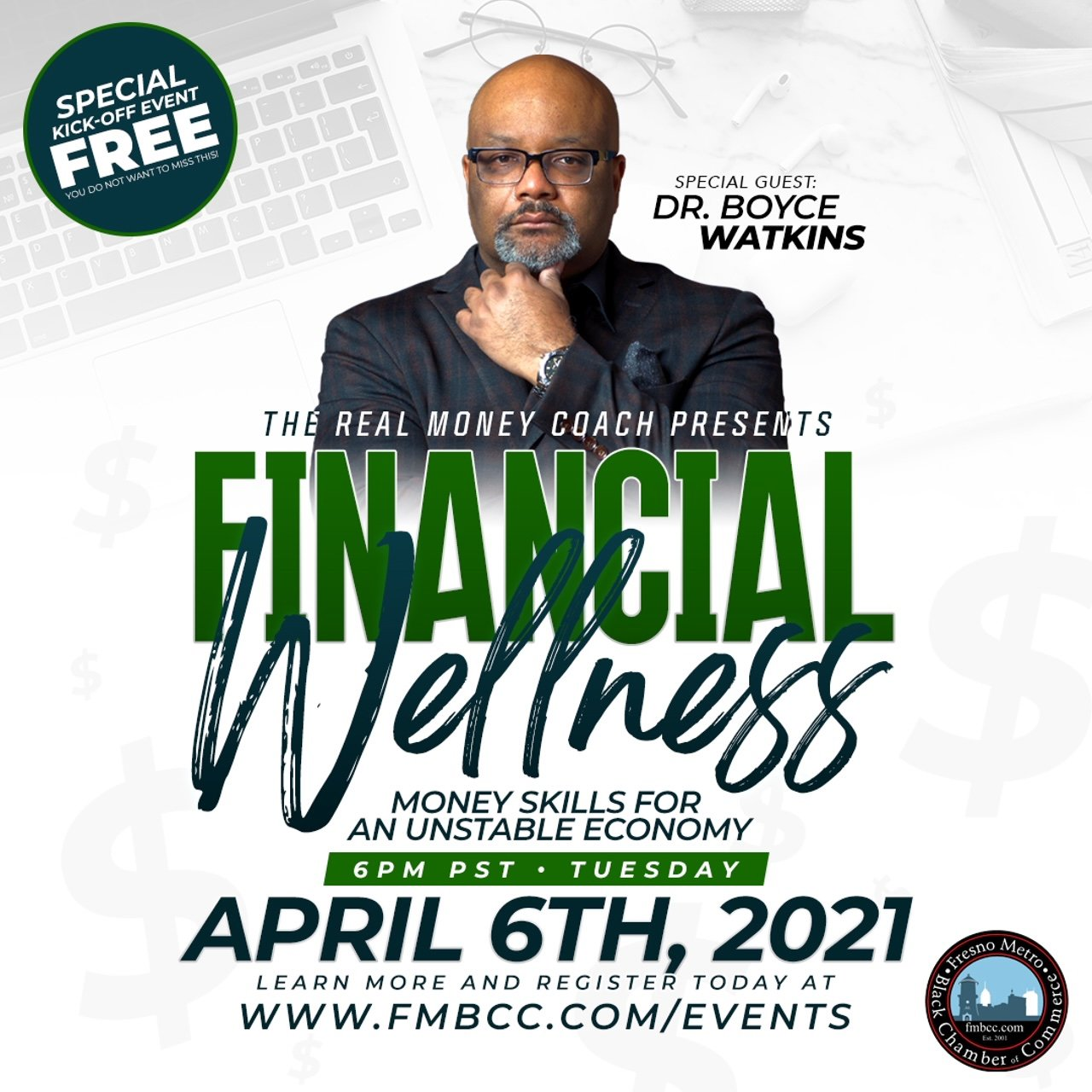 Financial Wellness Kickoff Event Flyer